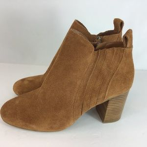 14th&Union Carmel Brown Suede Ankle Boots Size 10M